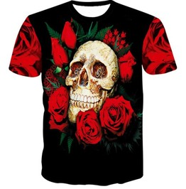 Steampunk Skull Head T Shirt D4