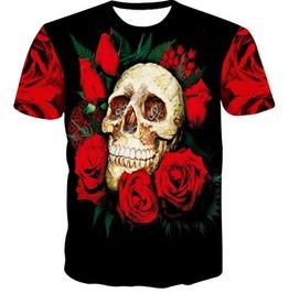 Steampunk Skull Head T Shirt D4