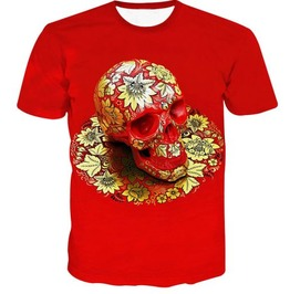 Steampunk Skull Head T Shirt D5