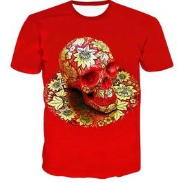 Steampunk Skull Head T Shirt D5