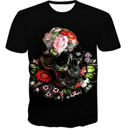 Steampunk Skull Head T Shirt D6
