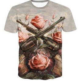 Steampunk Skull Head T Shirt D7