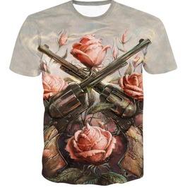 Steampunk Skull Head T Shirt D7