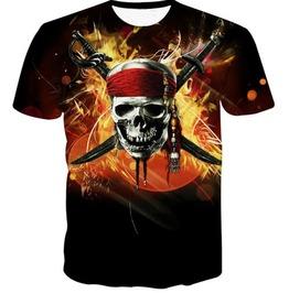 Steampunk Skull Head T Shirt D8