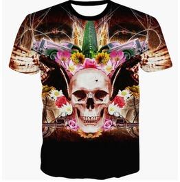 Steampunk Skull Head T Shirt D9