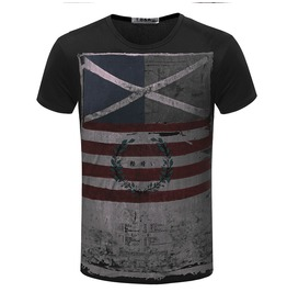 Men's Casual Summer Vintage Flag Printed T Shirt
