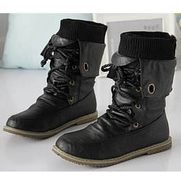Men's/Women's Casual Motorcycle Boots With Fur