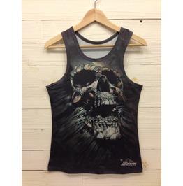Men's Nightmare Skull Printed Tank Top