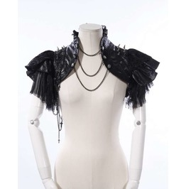 Steampunk Gothic Punk Rave Burlesque Lace Shrug Bolero Jacket Shoulder