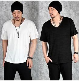Comfy And Neat Slub Basic V Neck T Shirts 564