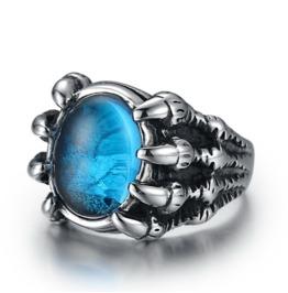 European Vintage Men Stainless Steel Titanium Jewels Alondra Ring