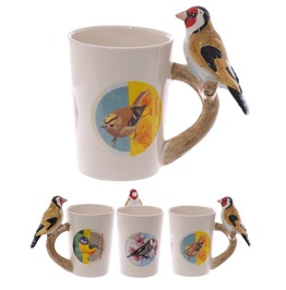 Egg N Chips London Fun Goldfinch Shaped Handle Mug