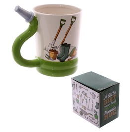 Egg N Chips London Fun Garden Hose Shaped Handle Mug