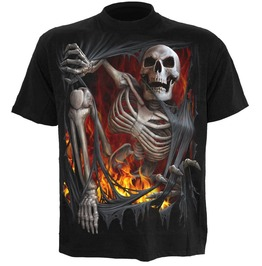 Men,S New Black Undead Rips Skulls Death T Shirt