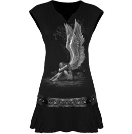 Women,S New Black Angel Stud Waist Mini Dress
