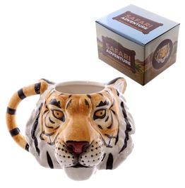 Egg N Chips London Novelty Tiger Head Shaped Mug