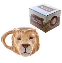 Egg N Chips London Novelty Lion Head Shaped Mug