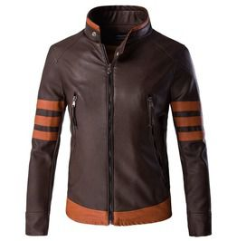 Mens plus size contrast faux leather motorcycle jacket jackets