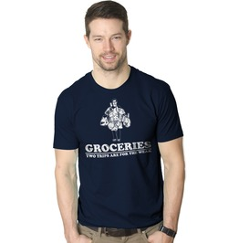 Grocereries Two Trips Are For The Weak. Funny Mens Shirt