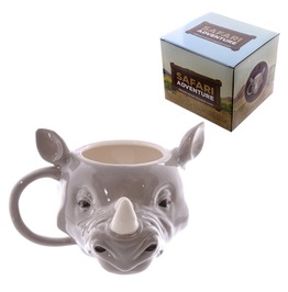 Egg N Chips London Novelty Rhino Head Shaped Mug