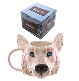 Egg N Chips London Novelty Wolf Head Shaped Mug