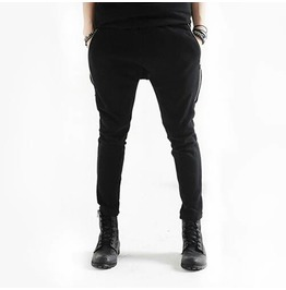 Men's Fashion Double Zippers Slim Jogging Pants