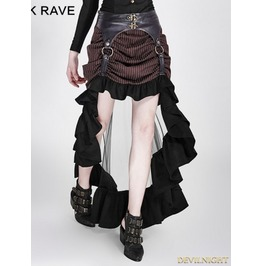 Brown Irregular Steampunk Skirt Q 302 Co