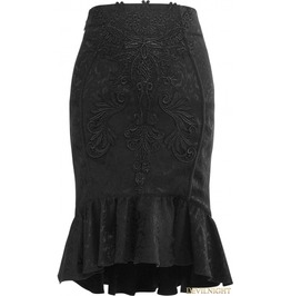 Black Gothic Vintage Palace Fishtail Skirt Q 303