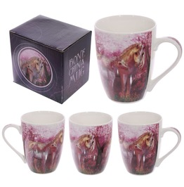 Egg N Chips London Fun Fantasy Unicorn Design New Bone China Pink Mug