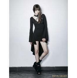 Black Gothic Irregular Short Sexy Dress Pq 184