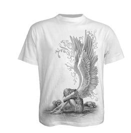 Men,S New White Skull Angel T Shirt