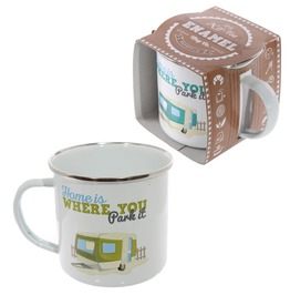 Egg N Chips London Fun Enamel Mug Home Is Where You Park It