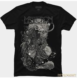 Black Gothic Military Feeling Pattern T Shirt For Men