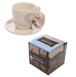 Egg N Chips London Novelty Ceramic Coffee Cup With Elephant Handle