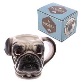 Egg N Chips London Novelty Shaped Handle Ceramic Pet Mug Pug Head