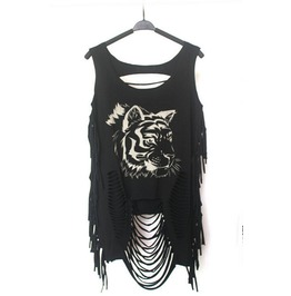 Womens Punk Rock Visual Cool Goth Tee Shirt Tops Blouses
