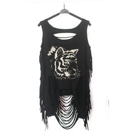 Womens Punk Rock Visual Cool Goth Tee Shirt Tops Blouses