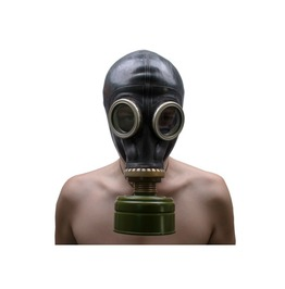 "Unused Black Vintage Rare Gas Mask. Soviet Gas Mask ""Gp 5"" Size Large (3)"