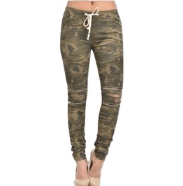 Camouflage Zippered Pants. Sizes Small 3xl