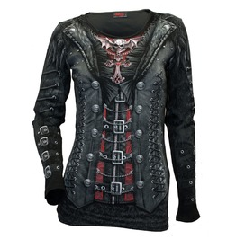 Womens Longsleeve All Over Print Top, Goth Steam Punk Rock