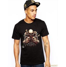 Black Gothic Cool Heavy Metal T Shirt For Men