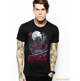 Black Gothic Hell Printing Fashion T Shirt For Men