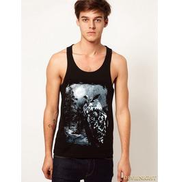 Black Gothic Dark Pattern Cool Vest For Men
