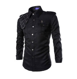 Pockets Men Shirt With Shoulder Mark