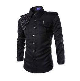 Pockets Men Shirt With Shoulder Mark