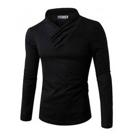 Men's Casual Long Sleeved T Shirt