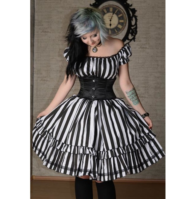 rebelsmarket_black_white_stripe_brocade_gothic_rockabilly_ruffle_corset_dress_9_to_ship_dresses_4.jpg