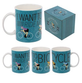 Egg N Chips London Fun Bone China Cycling Mug