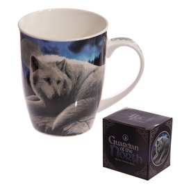 Egg N Chips London New Bone China Mug Fantasy Wolf Guardian