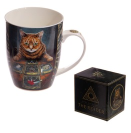 Egg N Chips London New Bone China Mug Fantasy Cat With Tarot Cards
